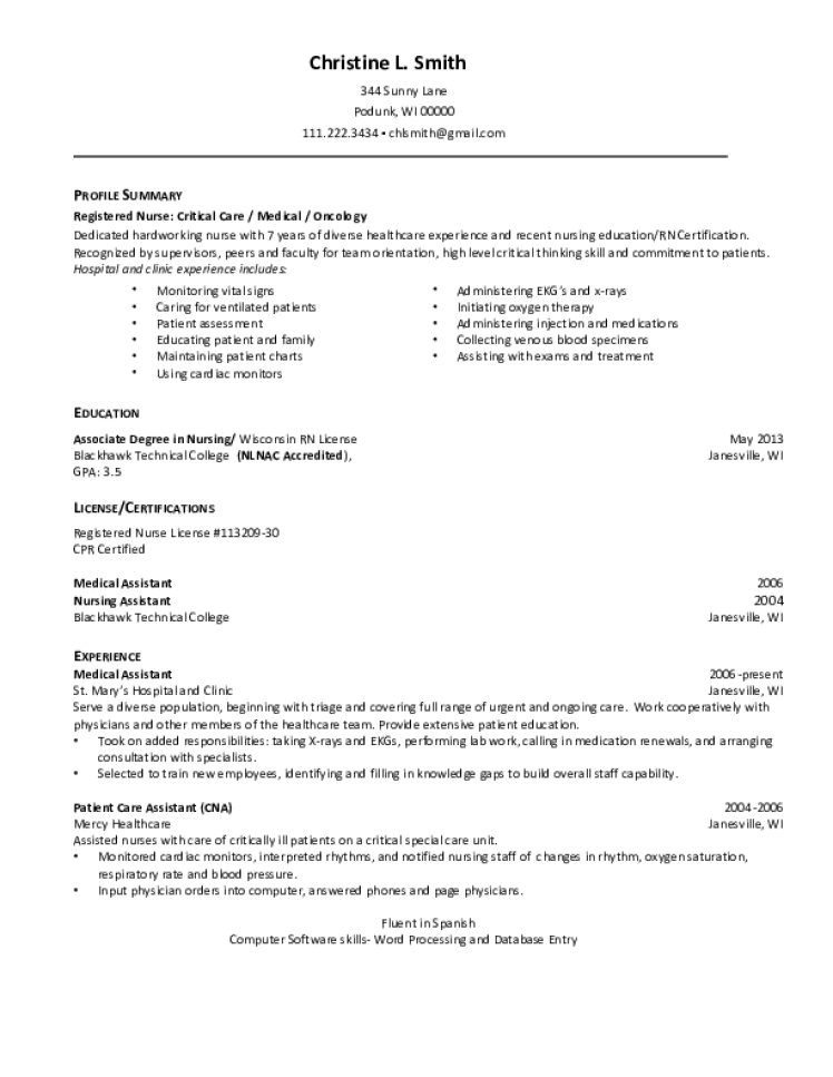 rn resume samples  download free templates in pdf and word