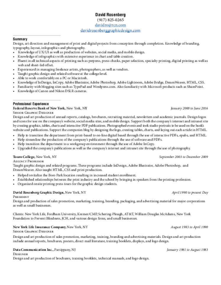 graphic design resume samples  download free templates in