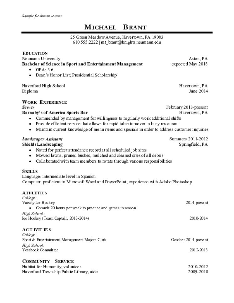Server Resume Samples - Download Free Templates in PDF and Word