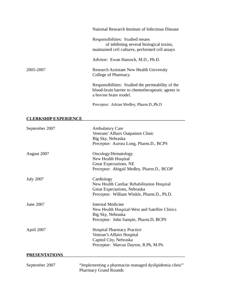 academic research assistant resume page2 - Research Assistant Sample Resume