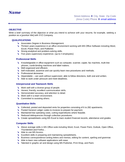 Basic Business Manager Resume