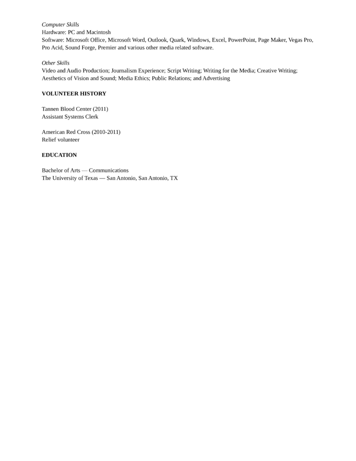 basic editorial assistant resume template page 2