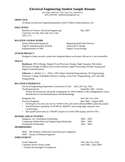 Basic Electrical Engineer Resume