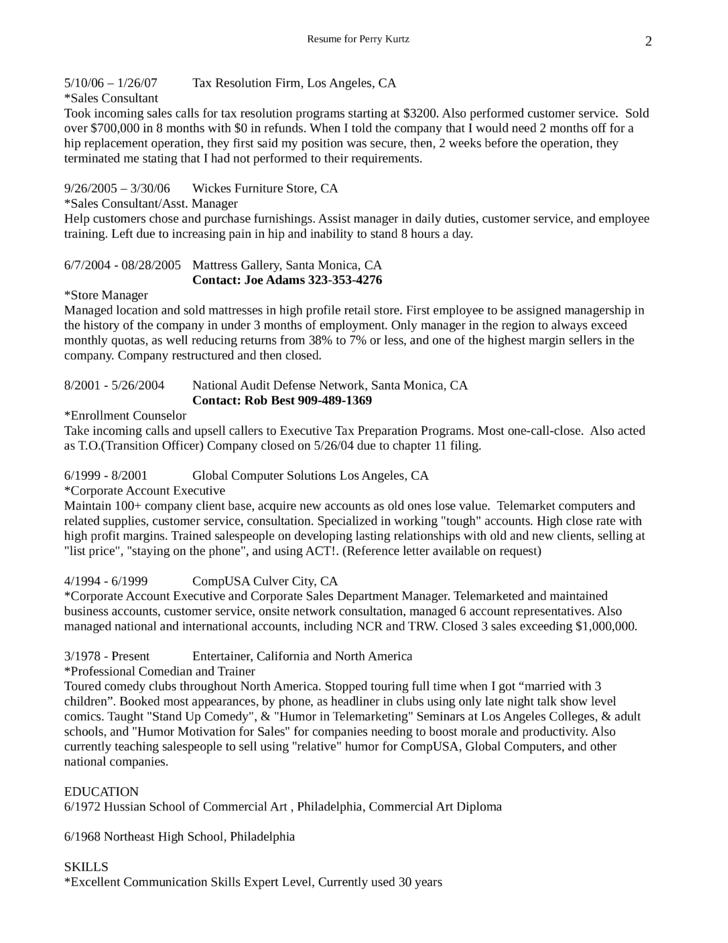 Enrollment Advisor Sample Resume
