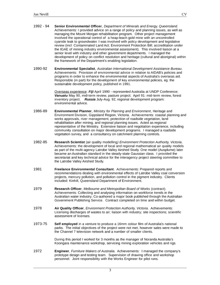 basic environmental scientist resume template  page 3