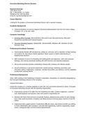 Basic Executive Director Resume Example
