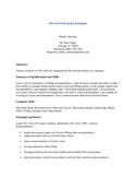 Basic File Clerk Resume