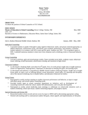 Basic Professional Counselor Resume