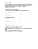 Basic Wait Staff Resume