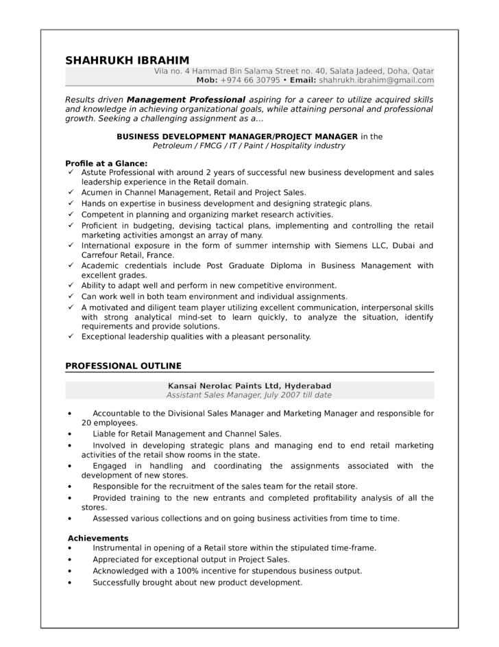 application development manager resumes