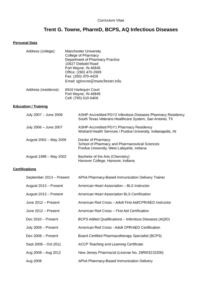Best Pharmacist Resume Template
