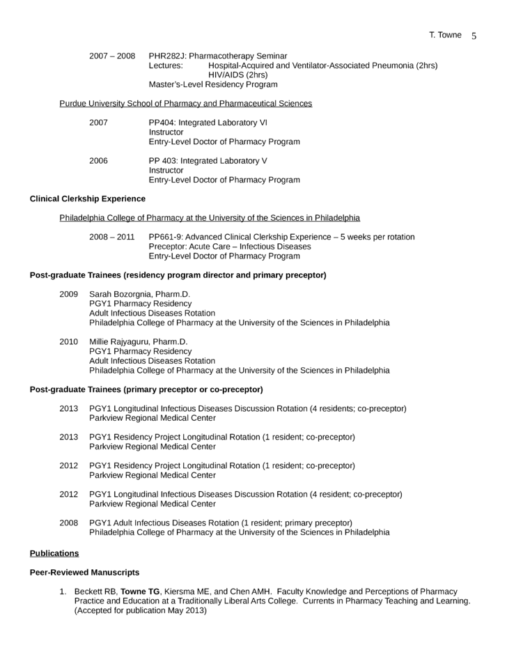 Best Pharmacist Resume Page5