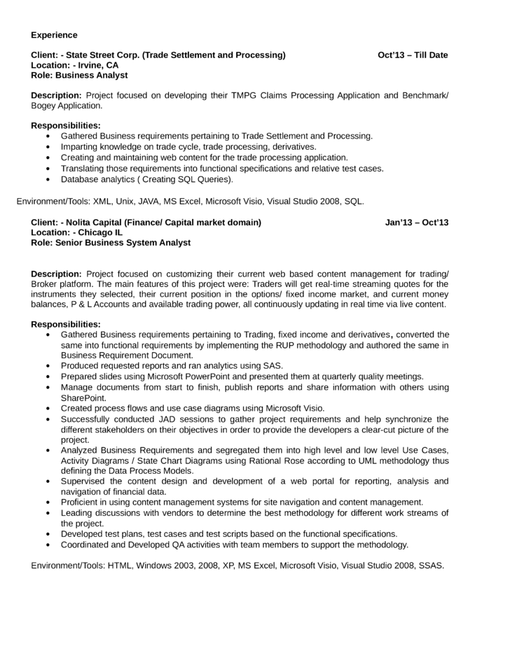 best quantitative analyst resume template