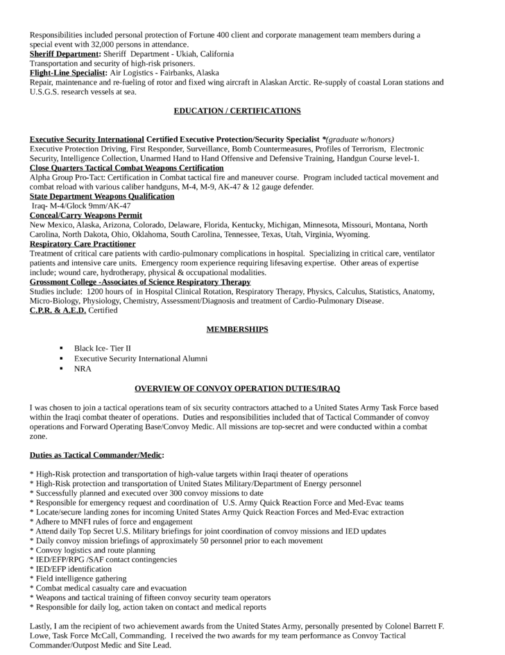 best respiratory therapist resume template page 3