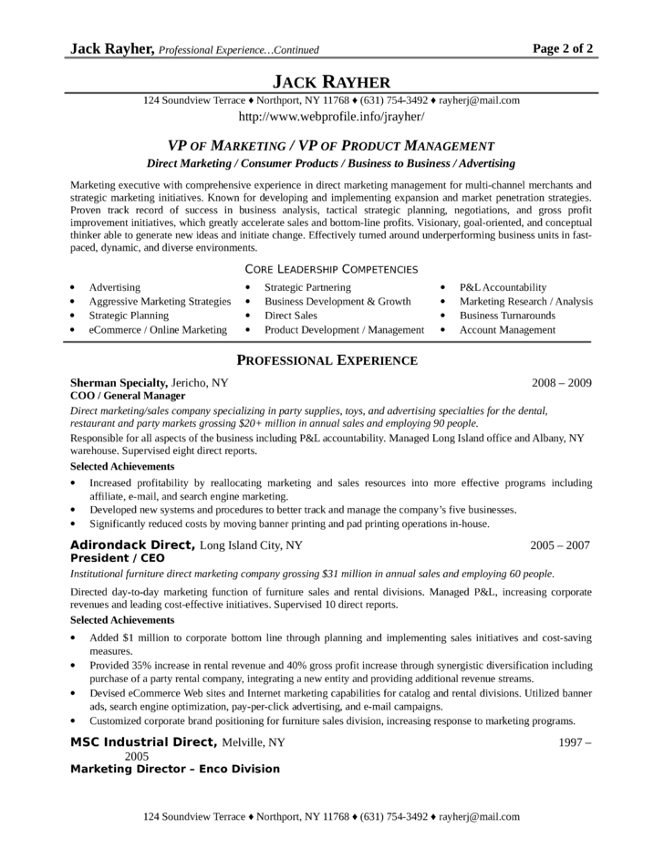 best vp of marketing resume template vice president of marketing resume - Best Resume