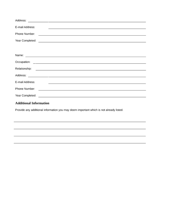 Blank Cashier Resume Template | page 5