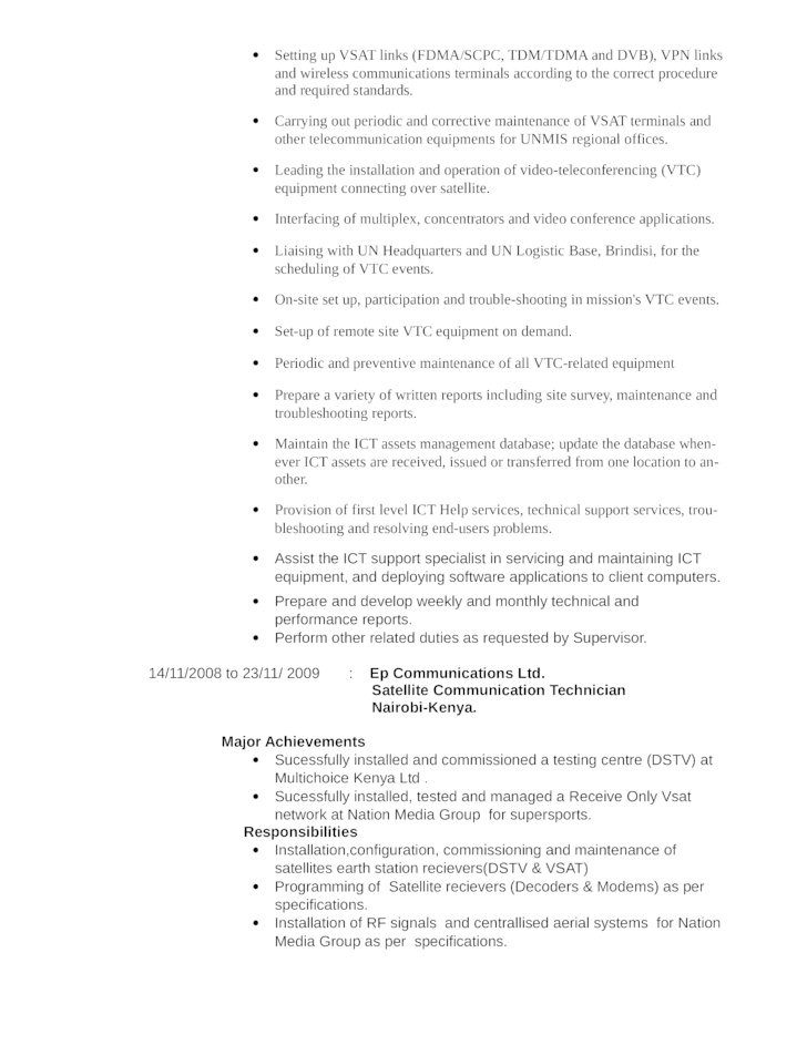 Business Telecommunications Technician Resume Template | page 4