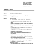 Chronologica Engineering Technician Resume