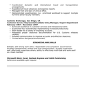 Chronological Administrative Assistant Resume
