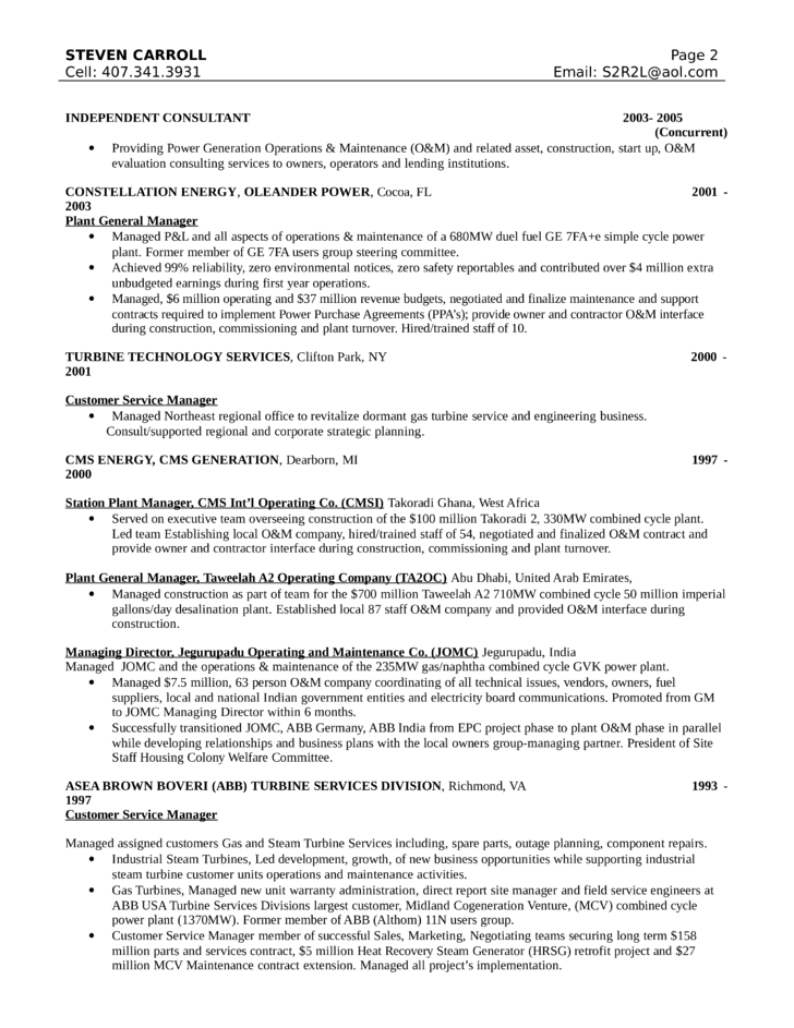 chronological customer service manager resume template