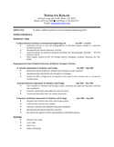Chronological Environmental Engineer Resume