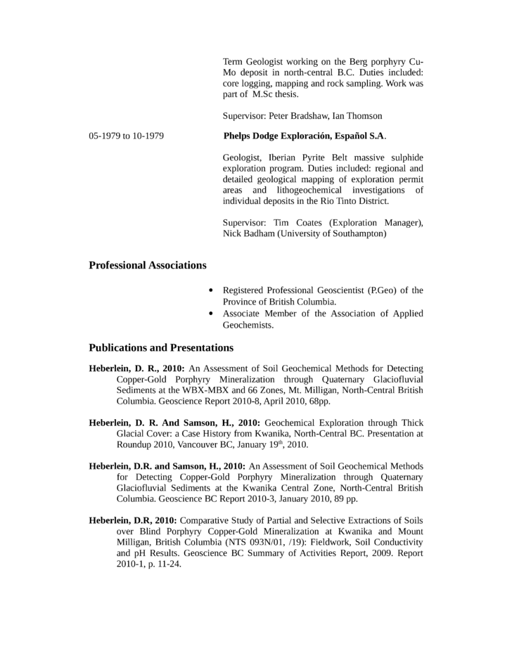 Chronological Geologist Resume Example Template | page 6