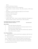 Chronological Operations Manager Resume