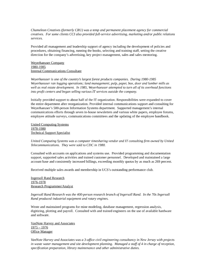 chronological recruiting manager resume template
