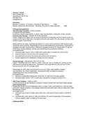 Chronological Sales Representative Resume