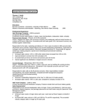 Chronological Sales Specialist Resume