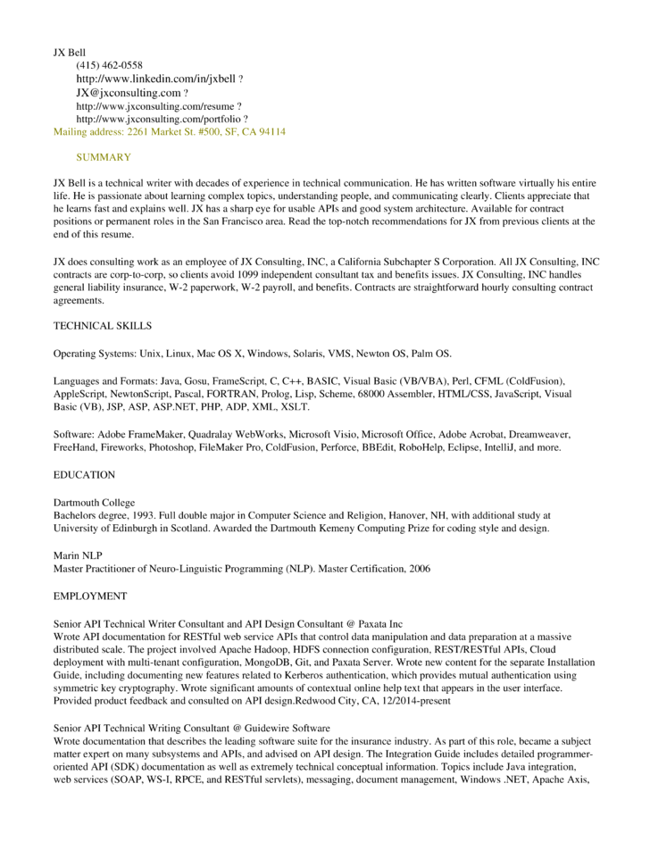 Marvelous Cold Fusion Experience Resume Sanusmentis Technical Writer Cover Letter  This Ppt File Includes Useful Materials For Pertaining To Writer Resume