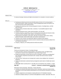 Chronological Training Specialist Resume