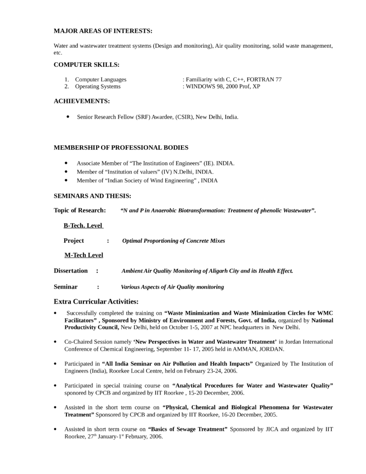 clean environmental engineer resume template