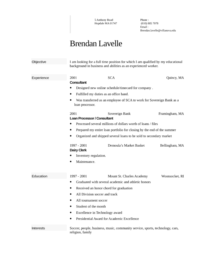 Clean Flight Attendant Resume Template