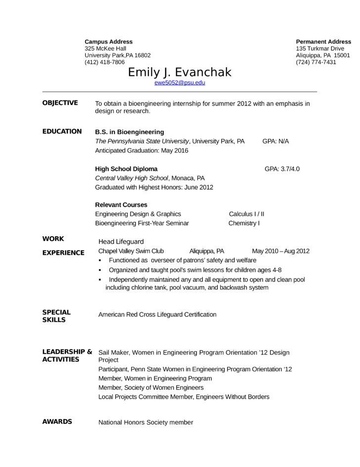 clean lifeguard resume template