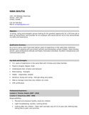 Clean Nanny Resume
