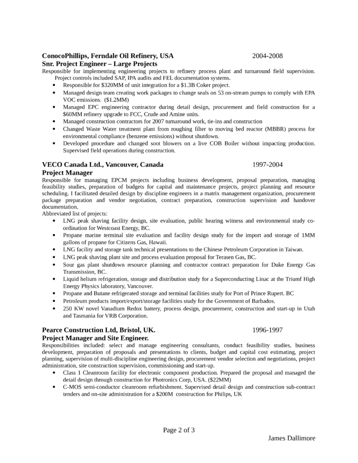 Clean Project Engineer Resume Page2