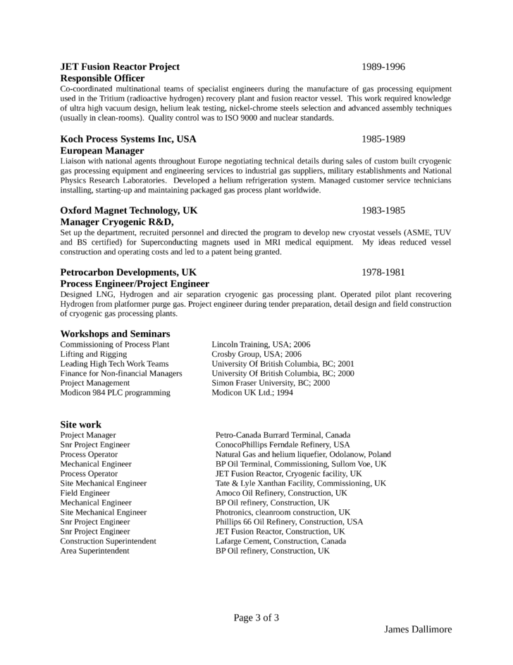 Clean Project Engineer Resume Template | page 3