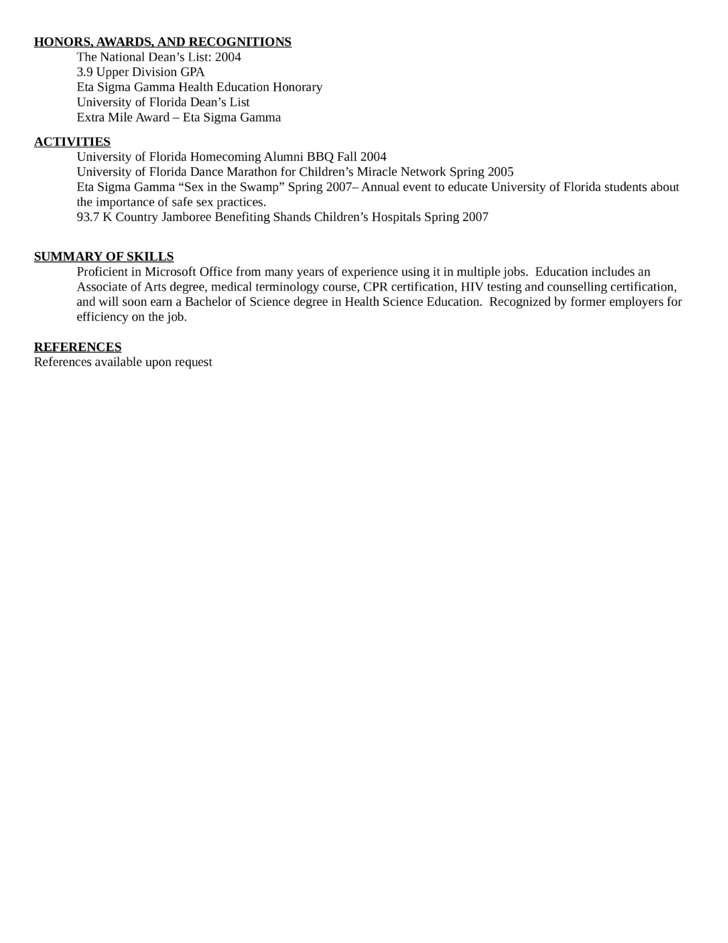 clean unit secretary resume template page 2