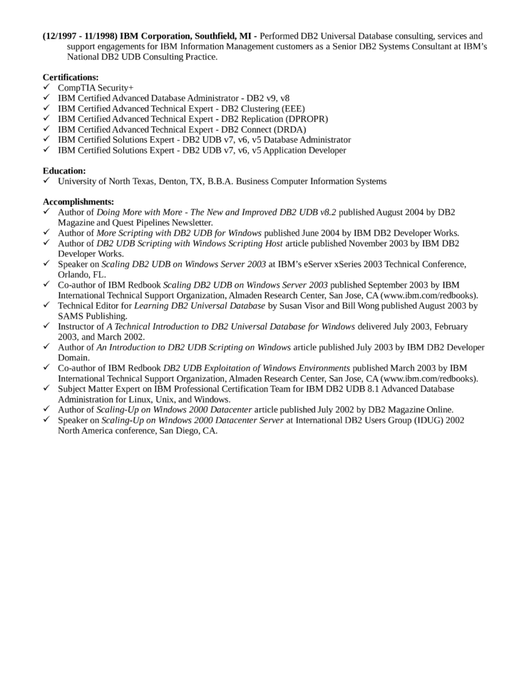 combination database administrator resume template