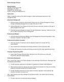 Combination District Manager Resume