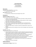 Combination General Counsel Resume Example