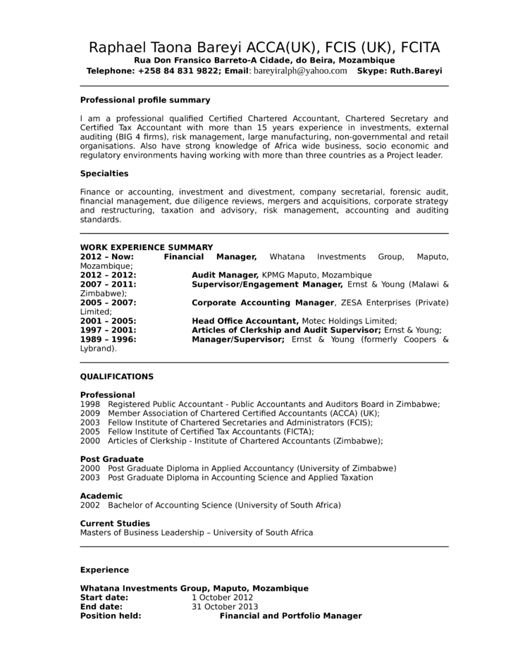 combination senior accountant resume template