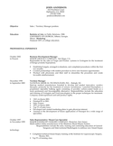Combination Territory Manager Resume
