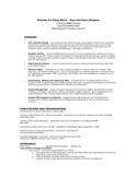 Combination User Interface Designer Resume Example
