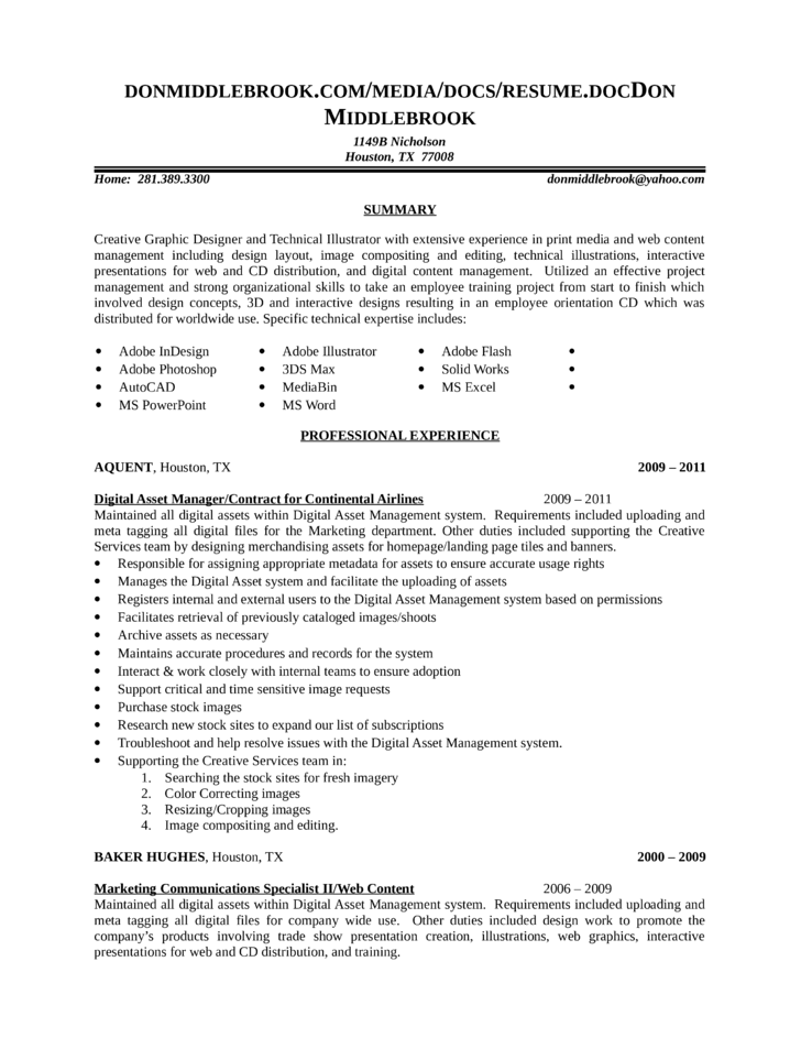 Combination VP Resume