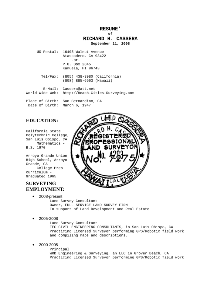 Creative Land Surveyor Resume Template