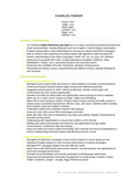 Creative Online Marketing Manager Resume