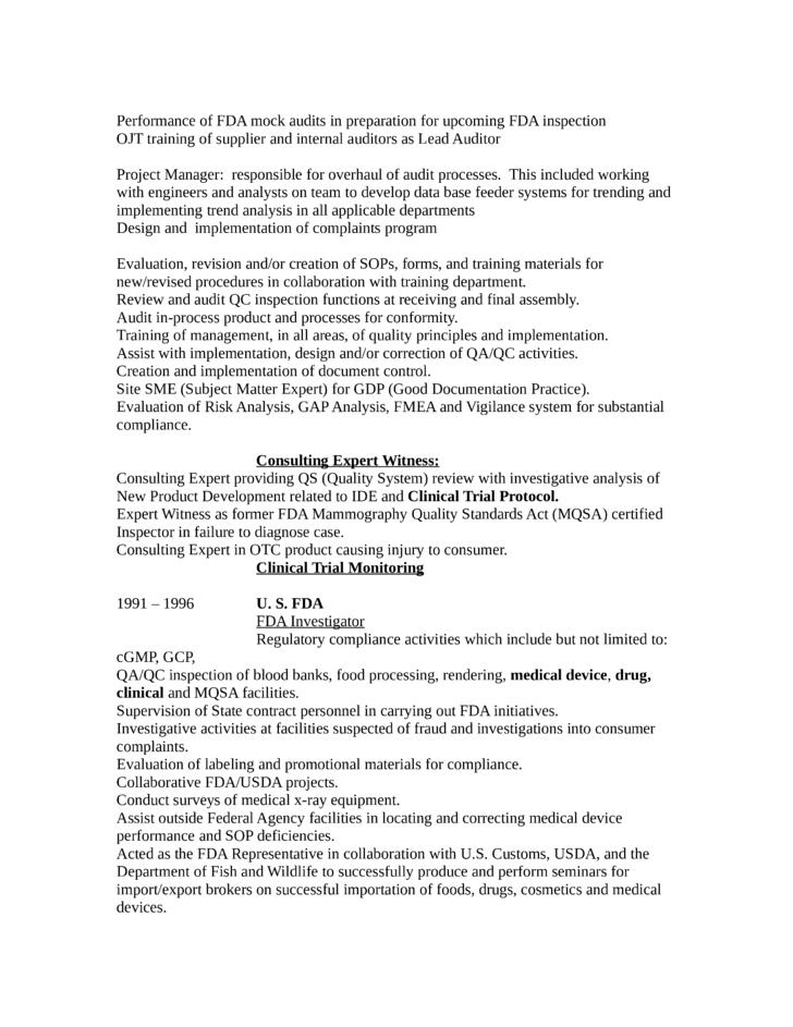 easy qa specialist resume template