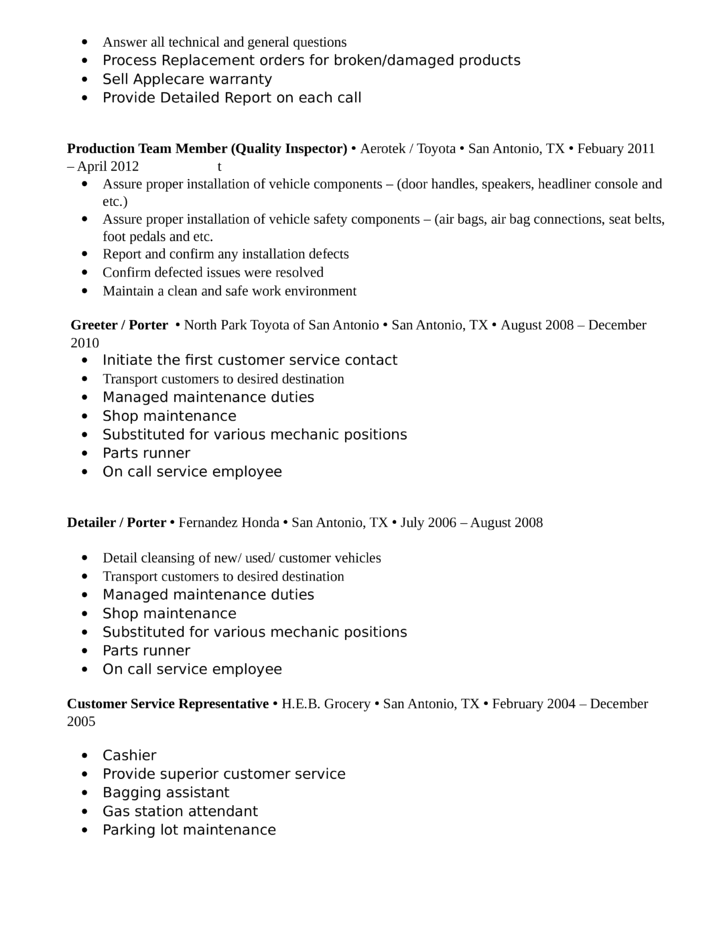 Engineer Resume Examples  Resume Components